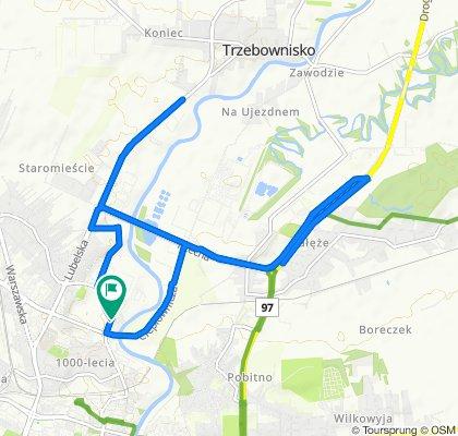Restful route in Rzeszów