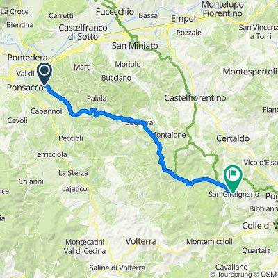 Da Via della Casa Bianca 35, Treggiaia a Via San Matteo 21, San Gimignano