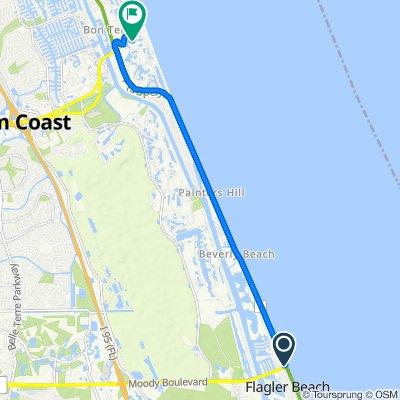 105 N Ocean Shore Blvd, Flagler Beach to 11 San Marco Ct, Palm Coast