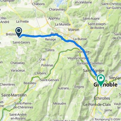 De 1 Rue des Halles, Saint-Etienne-de-Saint-Geoirs à 5 Rue Charles Lory, Grenoble