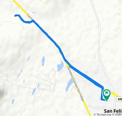Restful route in San Felipe