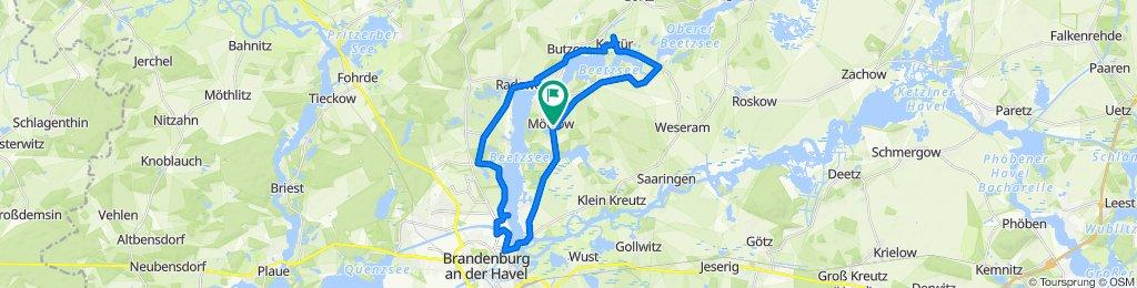 Moderate route in Beetzseeheide