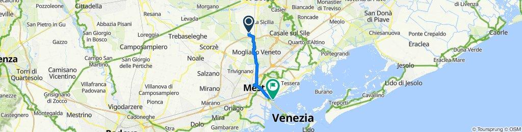 Blistering ride in Venezia