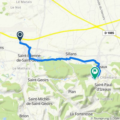 Relaxed route in Saint-Paul-d'Izeaux