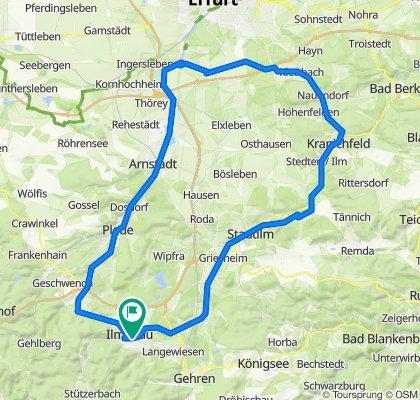 2020-06-27: Ilmenau - Kranichfeld - Molsdorf