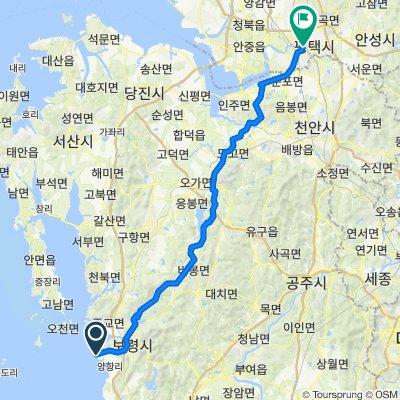 43 Gojam 1-gil, Boryeong-si to 185-367 Pyeongtaek-dong, Pyeongtaek-si