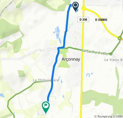 Itinéraire modéré en Arçonnay