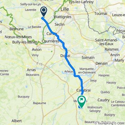 De 465 Rue Pasteur, Fournes-en-Weppes à 6 Hameau de Vaucelles, Les Rues-des-Vignes