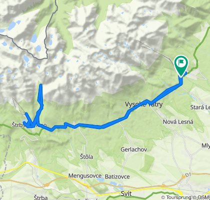 Trasa z 537, Tatranská Lomnica