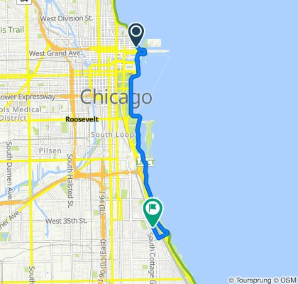 565–591 N Lake Shore Dr, Chicago to 3700–3722 S Lake Park Ave, Chicago