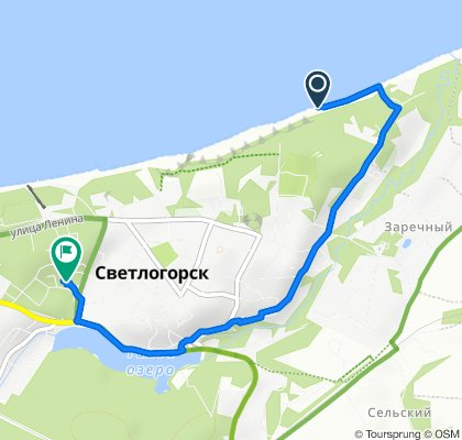 Relaxed route in Светлогорск
