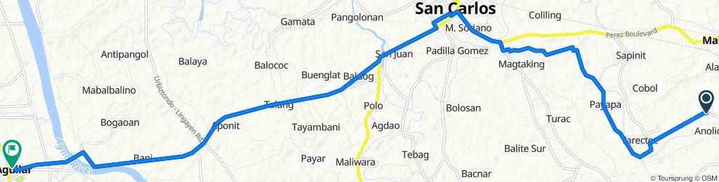 Anolid Brgy Road, Malasiqui to Aurora Street 11, Aguilar