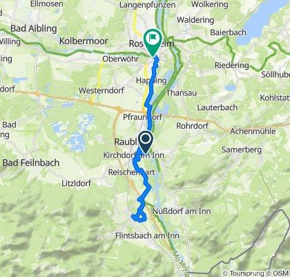 Happing Brannenburg Radweg/ Messung leider erst ab Raubling