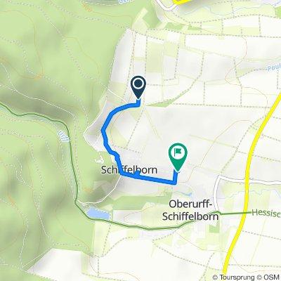 Schiffelborner Straße 20, Bad Zwesten nach Hainstraße 6, Bad Zwesten