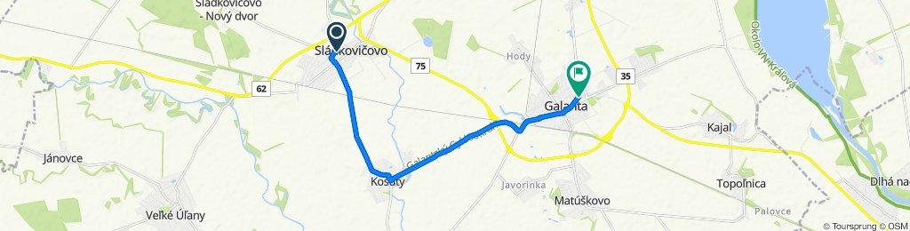 Blistering ride in Galanta