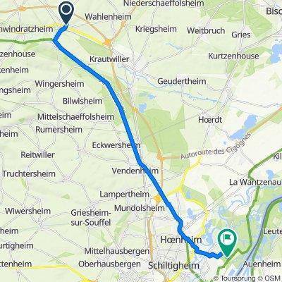 Itinéraire à partir de 25 Rue des Romains, Mommenheim