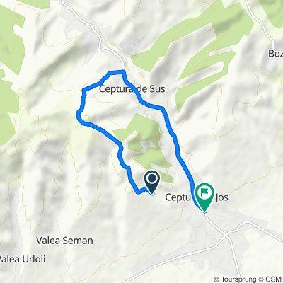 Restful route in Ceptura de Jos