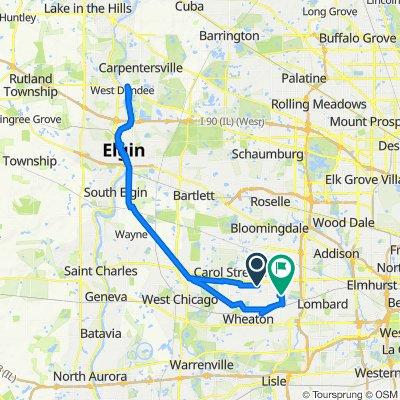 Great Western Trail, Carol Stream to 554 Elm St, Glen Ellyn