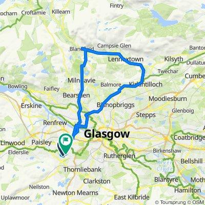Kirkbuddo Place, Glasgow to 49 Sanquhar Road, Glasgow