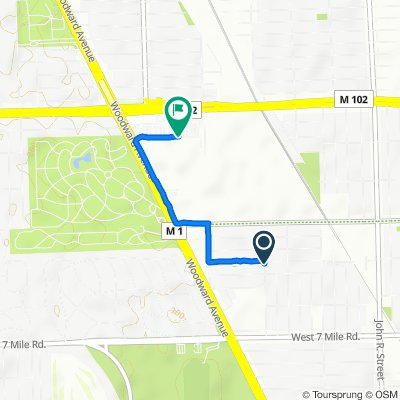 West Lantz Street 903, Highland Park to Colton Street 1314, Detroit