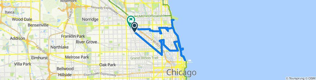 3313 N Milwaukee Ave, Chicago to 3733 N Lowell Ave, Chicago