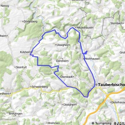 Werbach-Königheim-Külsheim-Taubertal-Gamburg-Werbach
