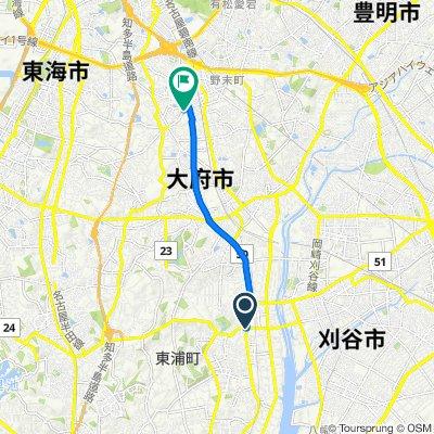 県道24号, Higashiura-Cho, Chita-Gun to 県道243号, Obu-Shi