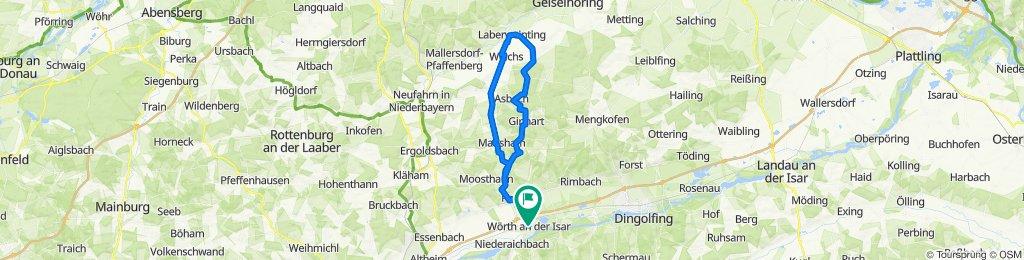 Wörth-Oberköllnbach-Bayerbach-Hofkirchen-Laberweinting-Haader-Hart-Asbach-Ginhart-Pram-Oberköllnbach-Wörth