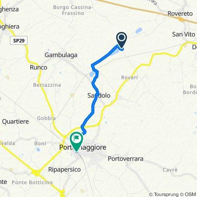 Da Via Bargellesi 3/B, Portomaggiore a Viale Cesare Battisti 13, Portomaggiore
