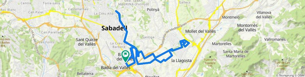 Relaxed route in Barberà del Vallès
