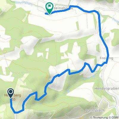 Route von Hochstraß, Kasten bei Böheimkirchen