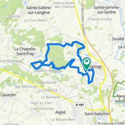 De Rue des Hortensias 26, La Bazoge à Rue des Hortensias 26, La Bazoge