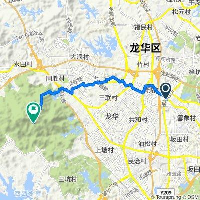 從G94珠三角环线高速, 深圳市出發的路線