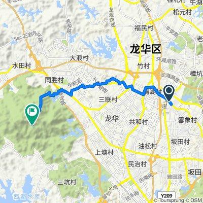 從雪岗北路27号, 深圳市出發的路線