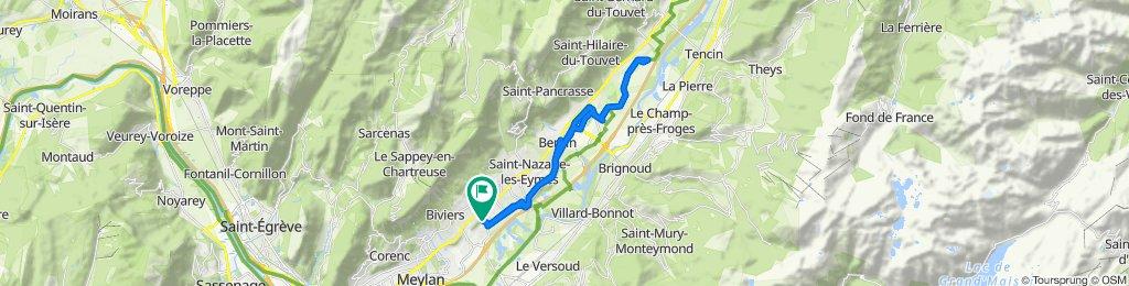 De Allée Fantin Latour 115, Montbonnot-Saint-Martin à Allée Fantin Latour 115, Montbonnot-Saint-Martin