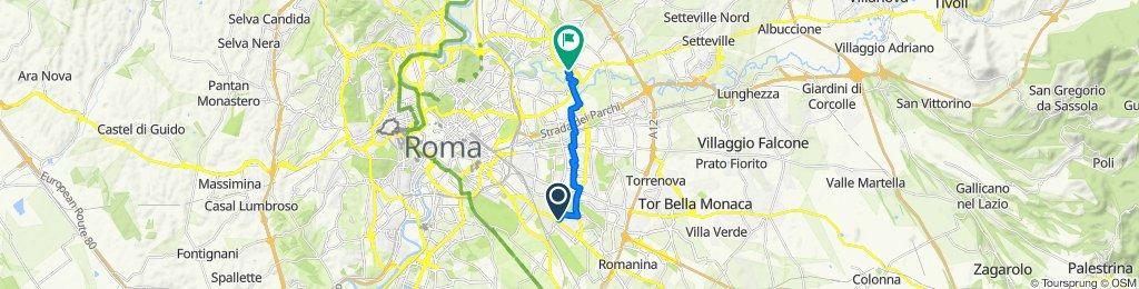 Da Via Marco Petreio 1, Cinecittà a Piazza Gerolamo Gaslini 6, Ponte Mammolo