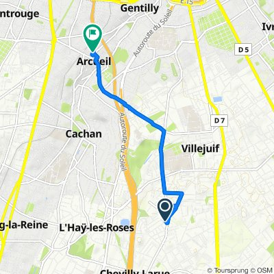 Relaxed route in Villejuif