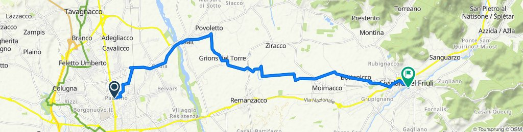 Moderate route in Cividale del Friuli