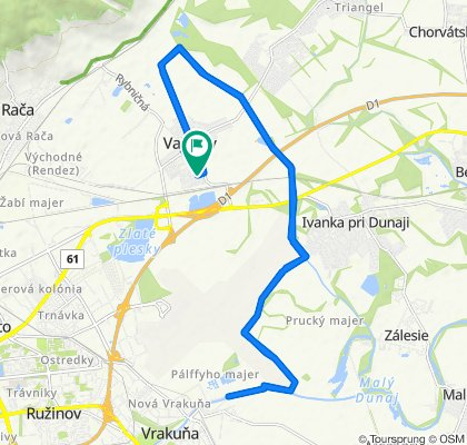 Restful route in Vajnory
