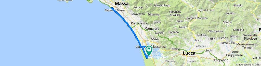 Da Via Venti Settembre 43/C, Torre del Lago Puccini a Via Guido Rossa 48, Torre del Lago Puccini