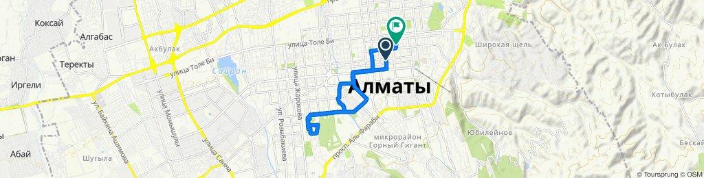 Улица Байсеитовой, Almaty to Karasai Batyr St, Almaty