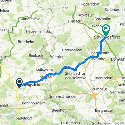 Schillingsfürst nach Wallhausen