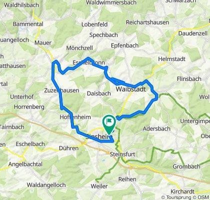 High-speed route in Sinsheim