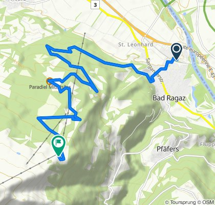 Moderate route in Bad Ragaz