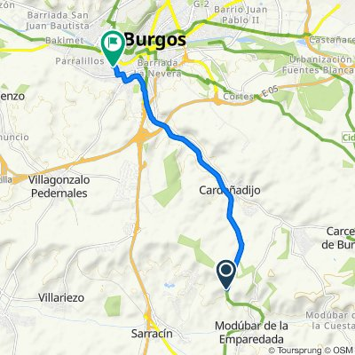 Sporty route in Burgos
