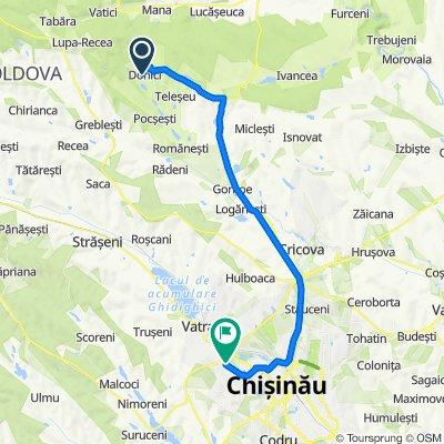 От Unnamed Road, Donici до  3, Chișinău
