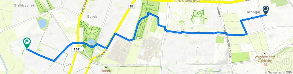 Restful route in Wrocław