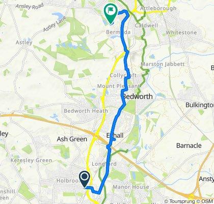 De 226A Lythalls Lane, Coventry a Hazell Way, Nuneaton