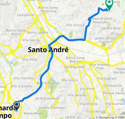 De Avenida Aldino Pinotti, 500, São Bernardo do Campo a Rua Hitita, 211, Santo André