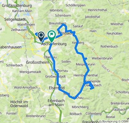 Supersonic route in Aschaffenburg